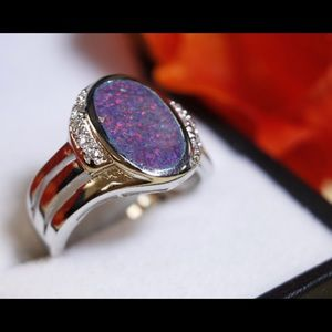 Beautiful Purple Opal Ring.